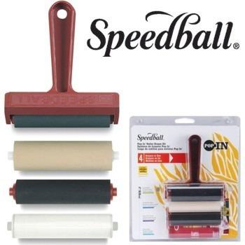 Conj Rolo Xilogravura Gravura 4x1 Speedball *frete*grátis*