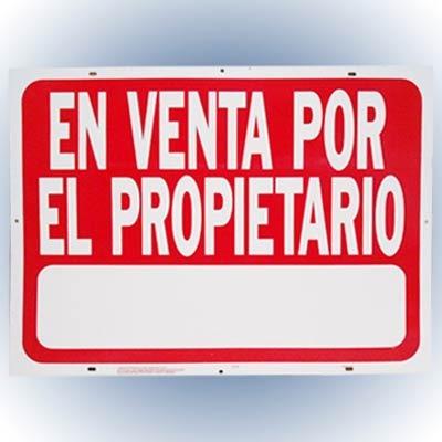 Letrero 46x61cm En Venta Por El Propietario Hy-ko.