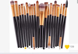 Brochas Set De 20 Piezas Maquillaje Kit Sombras Para Ojos
