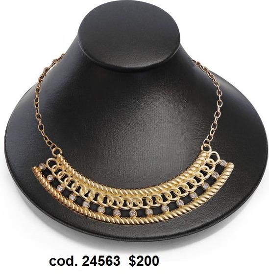 Collar Fantasia Joyeria Dorado