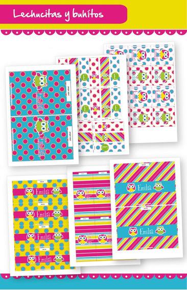 Kit Imprimible Búhos Y Lechuzas Candy Bar Envoltorios