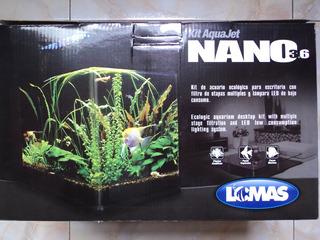 Nano Acuario 14 Litros Mod. 3.6 Con Filtro Y Lámpara Led Env