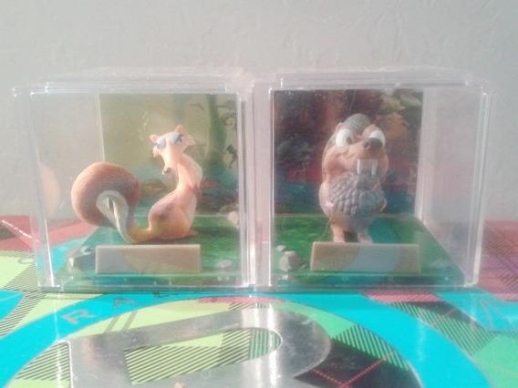 Boneco Scrat E Namorada Miniatura Fox Coleção Era Do Gelo