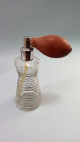 Perfumeiro Em Vidro Filetado Em Prata Antigo