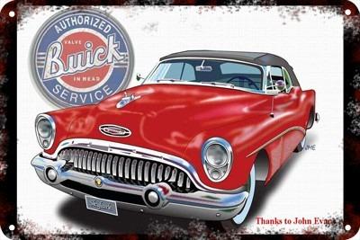 Poster Carteles Antiguos Chapa 60x40cm Buick 1946 Au-245