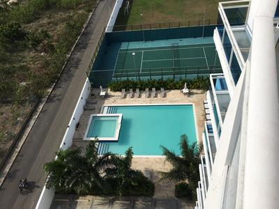 Apartamento 2habs. 9no Nivel, Piscina, Cancha, Bbq, Vista