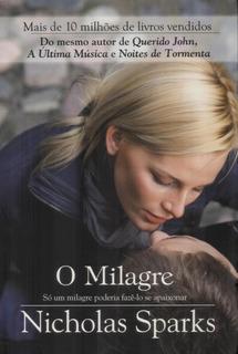 Livro Impresso - O Milagre - Nicholas Sparks