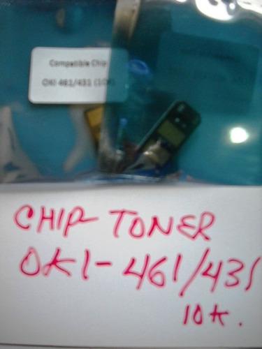 Chip Compatible Ok Y Mb461/471/491, B411/431 +lp 10k