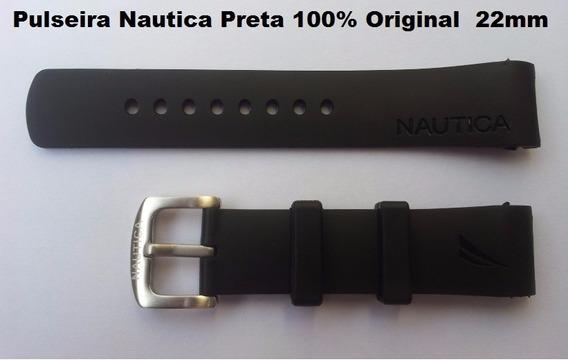 Pulseiras Relogio Nautica Original 22mm Preta