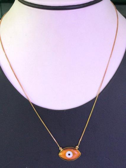 Lindo Colar Ouro 18k-4:00gr. 44cm.c/pingente.