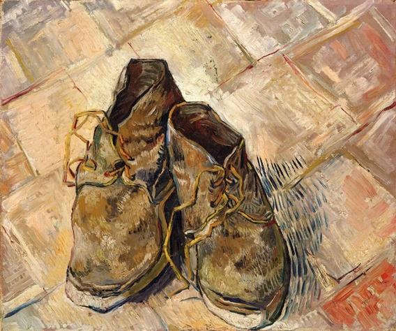 Sapatos 1988 Pintor Van Gogh Tela Repro
