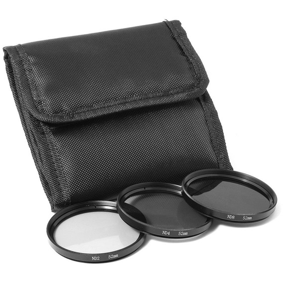 Kit De Filtro Nd2 + Nd4 + Nd8 + Case 62mm L120 P600 P530 ..