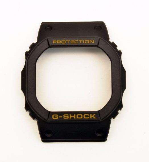 Bezel Casio Dw-5600e Original G-shock S. Ouro Fundo Parafusa