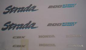 Kit Adesivos Honda Cbx 200 Strada 1995 Azul