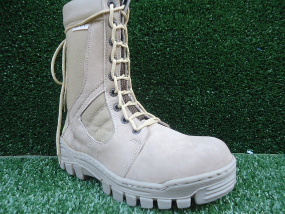 Bota Militar Color Beige