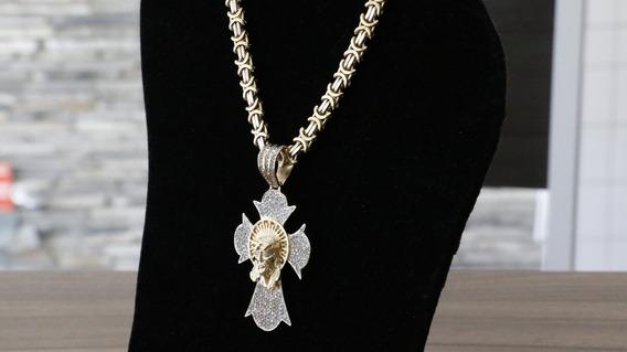 Corrente E Crucifixo - Ouro 18k