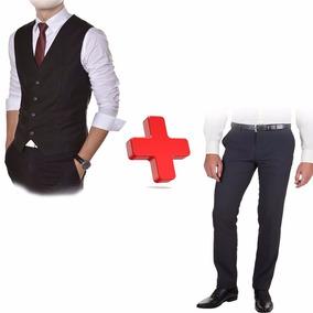 Promoção Calça Oxford Slim + Colete Oxford Melhor Qualidade