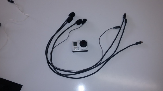 Microfone Para Gopro Hero 3 E 4 By Pato Motos Jr