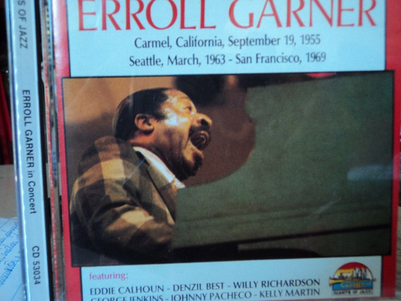 Cd-errol Garner:immortal Concerts-giants Of Jazz-importado