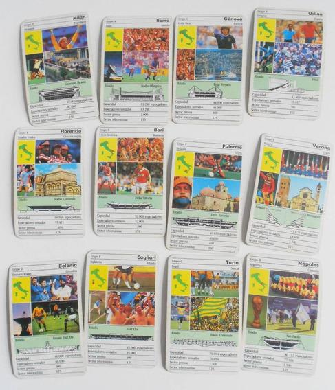 Lote 12 Cartas Estadios Mundial Italia 90 - Cromy Futbol