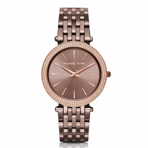 Relógio Michael Kors Feminino Darci Slim Mk3416/4mn Marrom