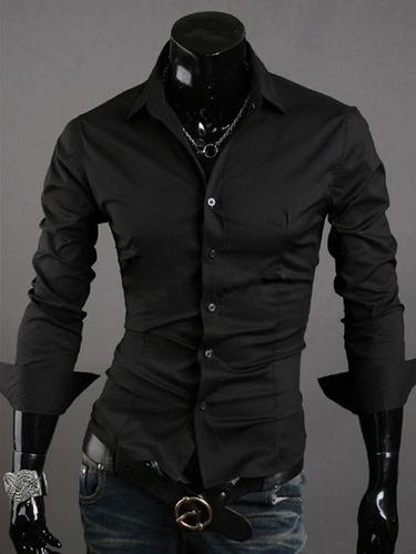 Camisa Hombre Farenheite Lisa Gris