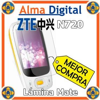 Lamina Protector Pantalla Mate Zte N720 +paño Antihuella 720