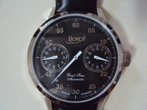 Relógio Alemão Boscé Dual Time - Automático
