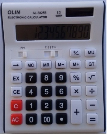 Calculadora Eletrônica De Mesa 12 Dígitos Solar E Pilhas Aaa