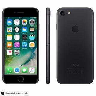 iPhone 7 128gb Preto Matte Tela 4.7 Ios 10 4g Câmera 12mp