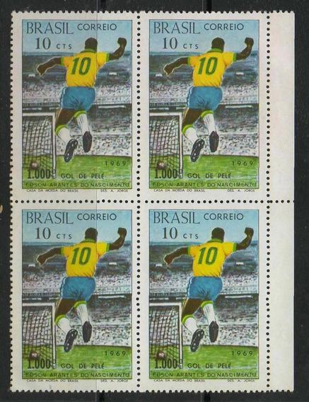 C- 658 - Pelé -quadra C/ 4 Selos Do 1.000 Gols De Pelé