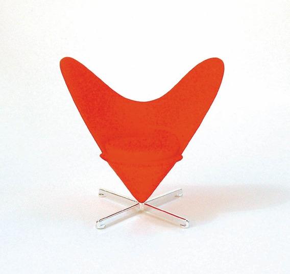 Miniatura Poltrona Heart Shaped1:12 Designer Verner Panton