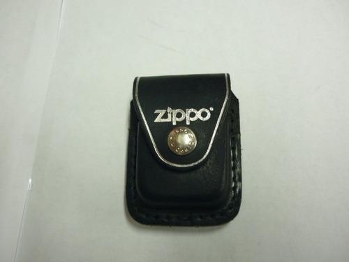 Imagen 1 de 3 de Estuche Para Encendedor Zippo Original En Cuero Negro