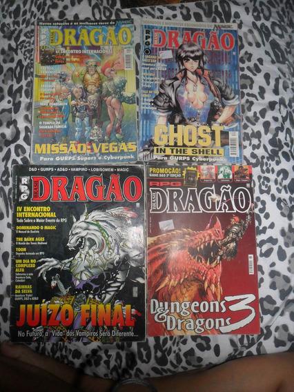Rpg - Dragão Brasil N° 18, 34, 39 E 65 Editora Trama