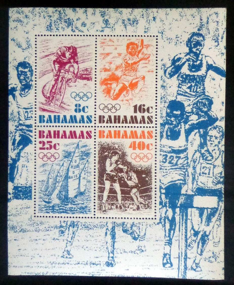 Bahamas Deportes, Bloque Sc. 391a Olimpíadas 76 Mint L8705