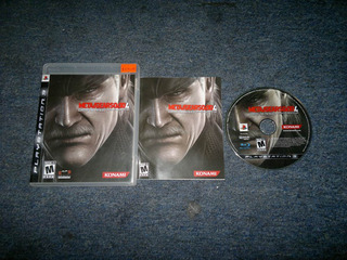 Metal Gear Solid Iv Completo Play Station 3,excelente Titulo