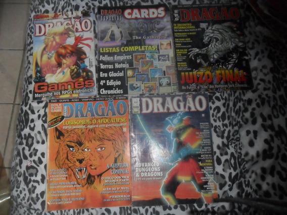 Lote De 5 Revistas De Rpg - Dragão Editora Trama