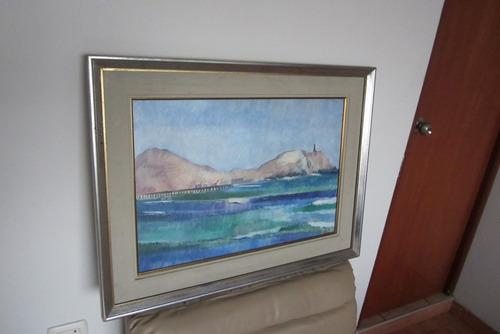 Imagen 1 de 6 de Pintura Arte,obra Maestra   Cerro Azul 72  Leslie Lee Crosby