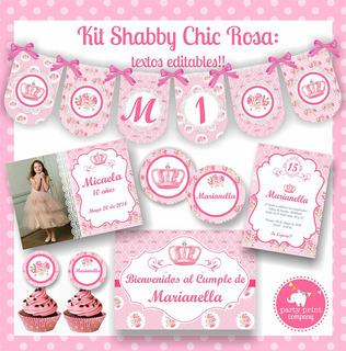 Kit Shabby Chic Rosa
