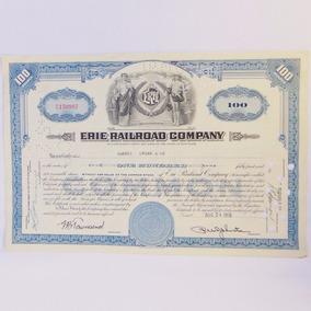 Apólice Letra Ação Erie Railroad Company 1955 Objeto Antigo