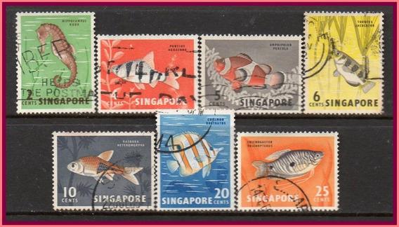 Cingapura - Peixes Malaios - 1962 - S/completa