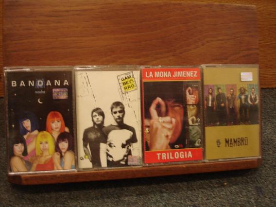Bandana Noche Mambrú Gamberro La Mona Jimenez 4 Cassettes