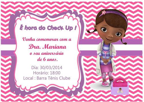 Imagem 1 de 1 de Doutora Brinquedos - Convites 7x10cm - 40 Unidades