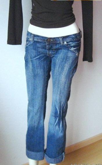 Jeans Recto Localizado Con Tachas T 28 Oferta