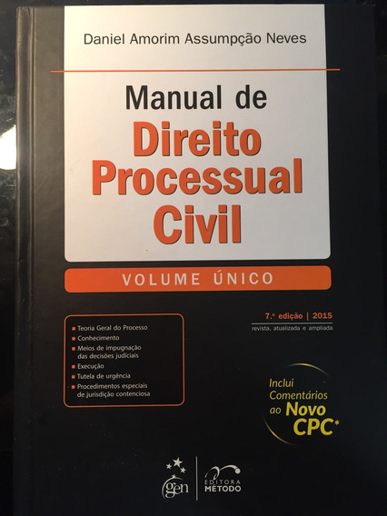 Manual De Direito Processual Civil 2015 Ncpc Daniel Amorim