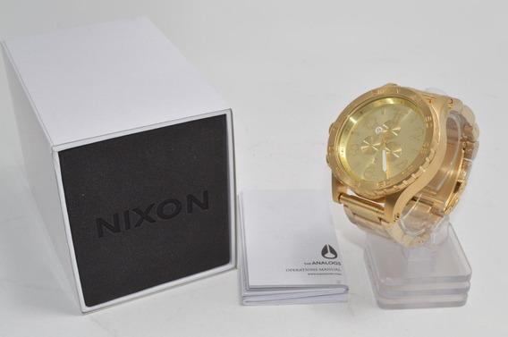 Relogio Nixon 51-30 51 30 Aço Dourado Gold Cronografo Chrono