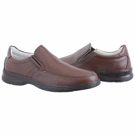 Sapato Linha Conforto Couro Floater Super Leve Ref 8000