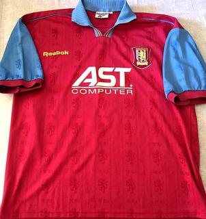 Camisa Aston Villa 1997-98 Hendrie #17 Importada Oficial