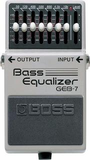 Pedal De Efecto Boss Geb7 Ecualizador Para Bajo 7 Bandas