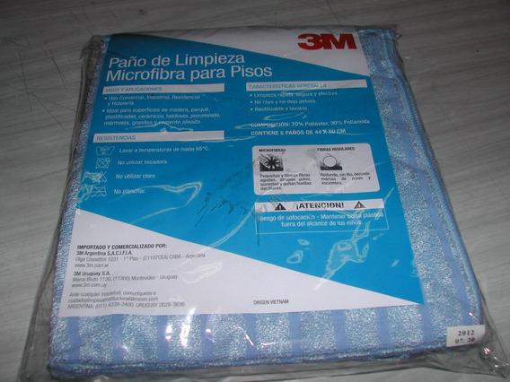 3m Paño Pisos Azul Limpieza Microfibra 44 X 50 Cm